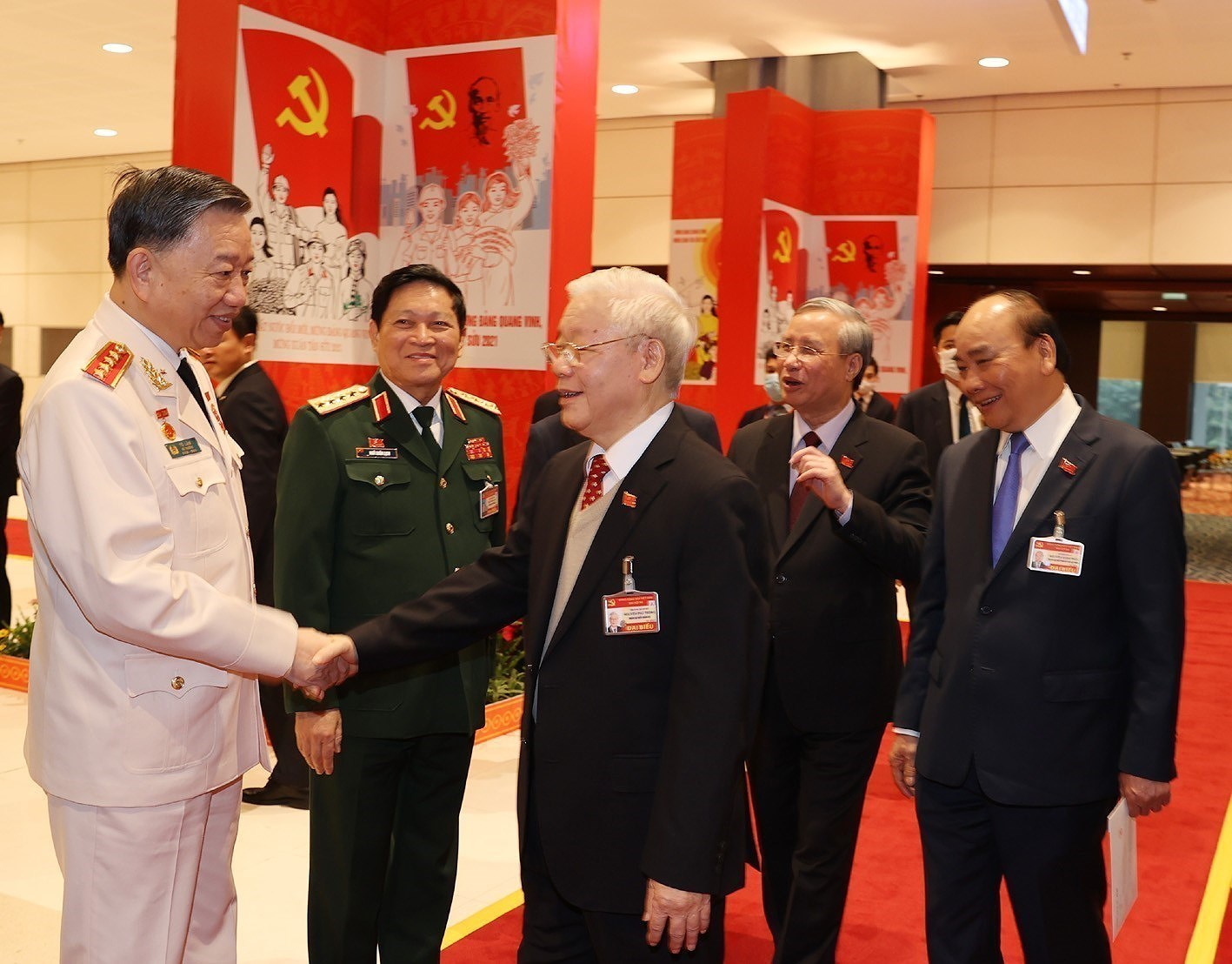 Top leaders attend the Congress's discussion on January 28 hinh anh 4