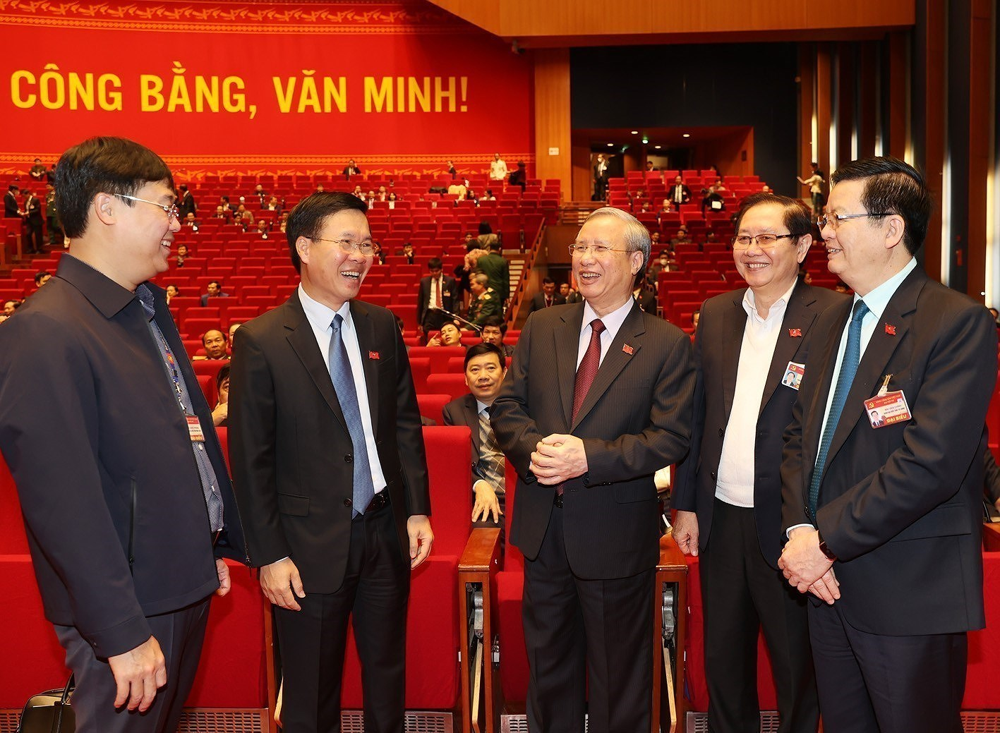 Top leaders attend the Congress's discussion on January 28 hinh anh 1