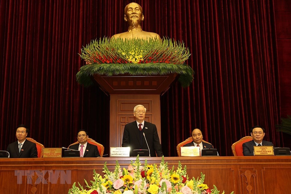 Nguyen Phu Trong re-elected to be Party General Secretary hinh anh 3