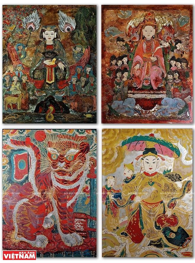 Reviving Hang Trong folk paintings from traditional materials hinh anh 10