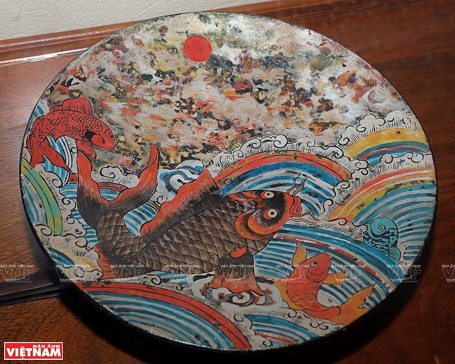 Reviving Hang Trong folk paintings from traditional materials hinh anh 11