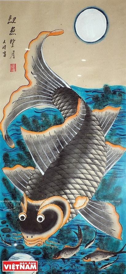 Reviving Hang Trong folk paintings from traditional materials hinh anh 9