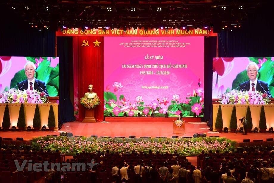 Grand ceremony marks President Ho Chi Minh's birthday hinh anh 16