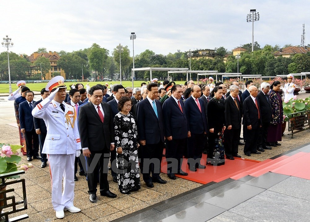 Grand ceremony marks President Ho Chi Minh's birthday hinh anh 4