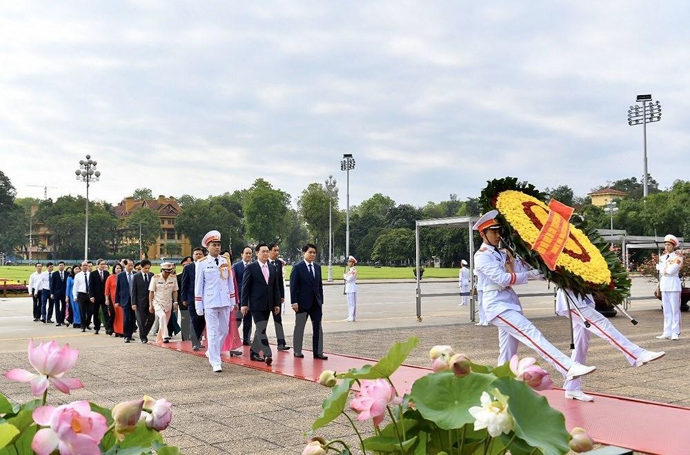 Grand ceremony marks President Ho Chi Minh's birthday hinh anh 8