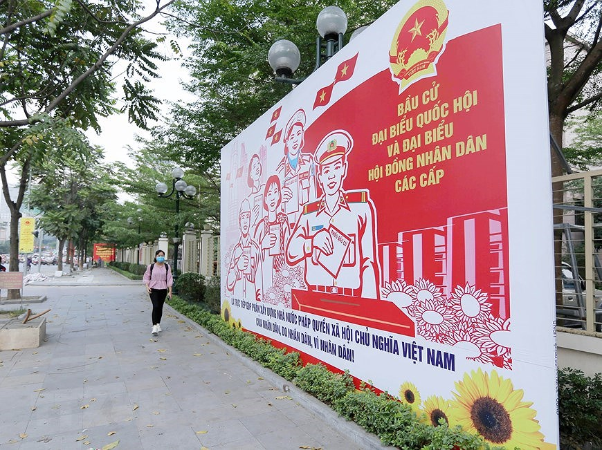 Hanoi welcomes National Assembly election day hinh anh 4