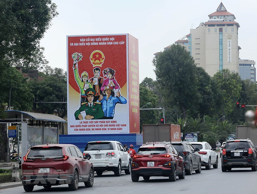 Hanoi welcomes National Assembly election day hinh anh 7