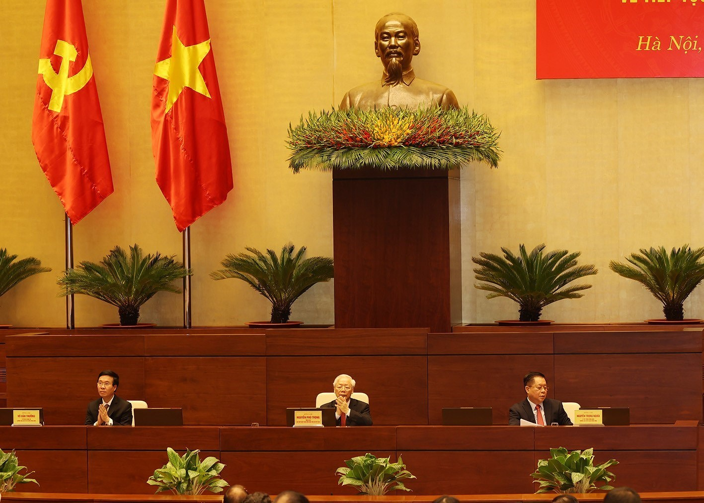 Speech of Party leader Nguyen Phu Trong at conference reviewing 12th Politburo's Directive 05 hinh anh 5