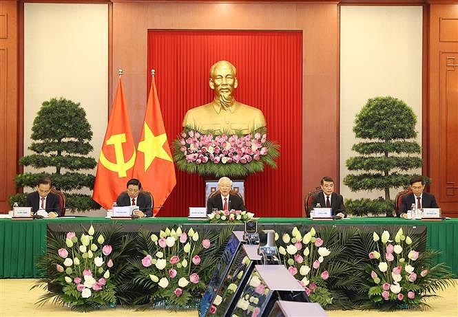 Party chief's speech at CPC and World Political Parties Summit hinh anh 1