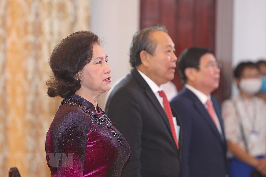 National Reunification Day celebrated across Vietnam hinh anh 17