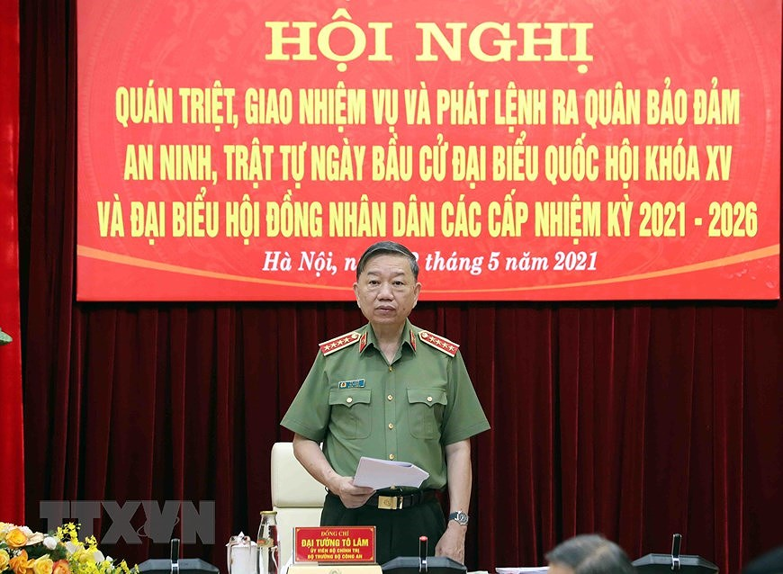 NA Chairman attends ceremony on protecting security and safety for elections hinh anh 4