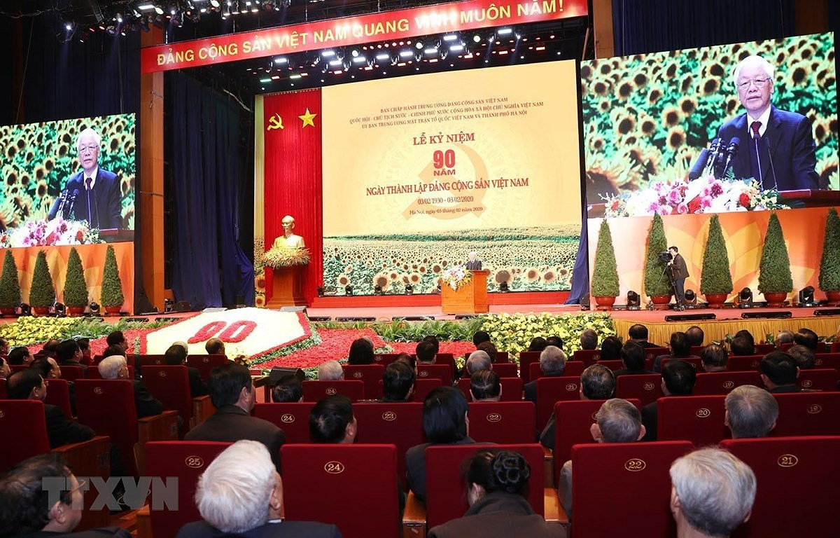 Speech by Party General Secretary-President at ceremony marking Party's 90th founding anniversary hinh anh 1