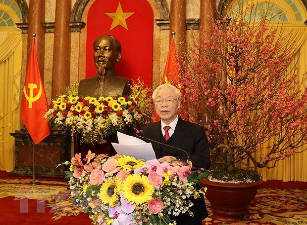 Top leader: Turn opportunities into reality to build prosperous, happy Vietnam hinh anh 1