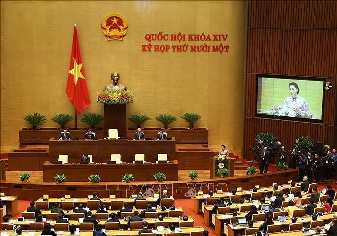 14th National Assembly's 11th sitting opens hinh anh 1