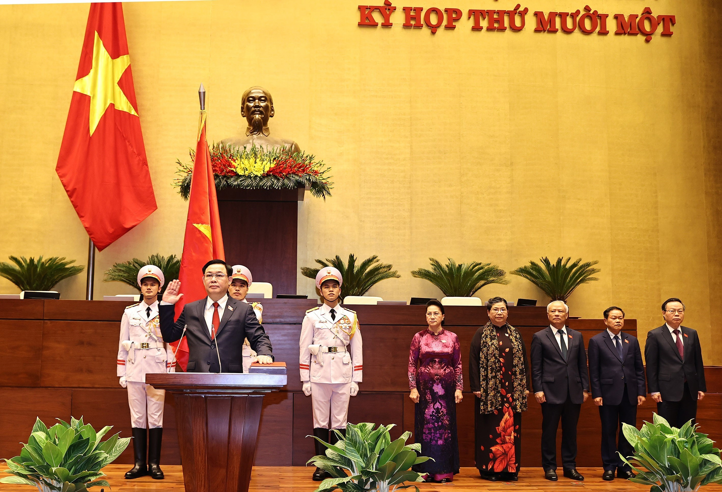 New National Assembly Chairman takes the oath of office hinh anh 1