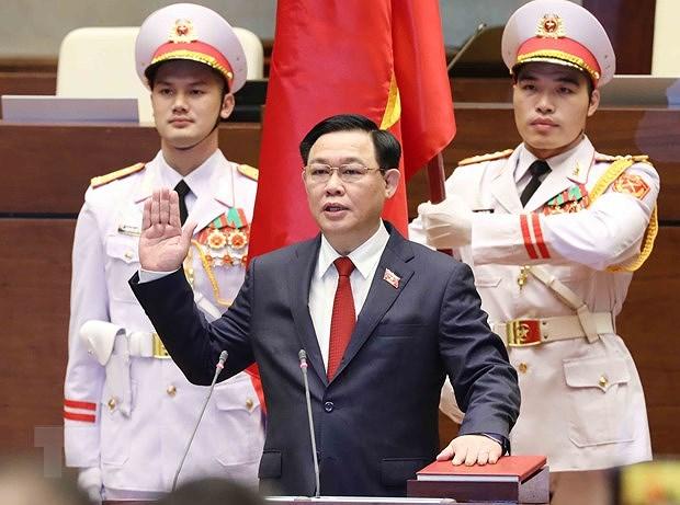 Cambodian NA President congratulates new Vietnamese NA Chairman hinh anh 1