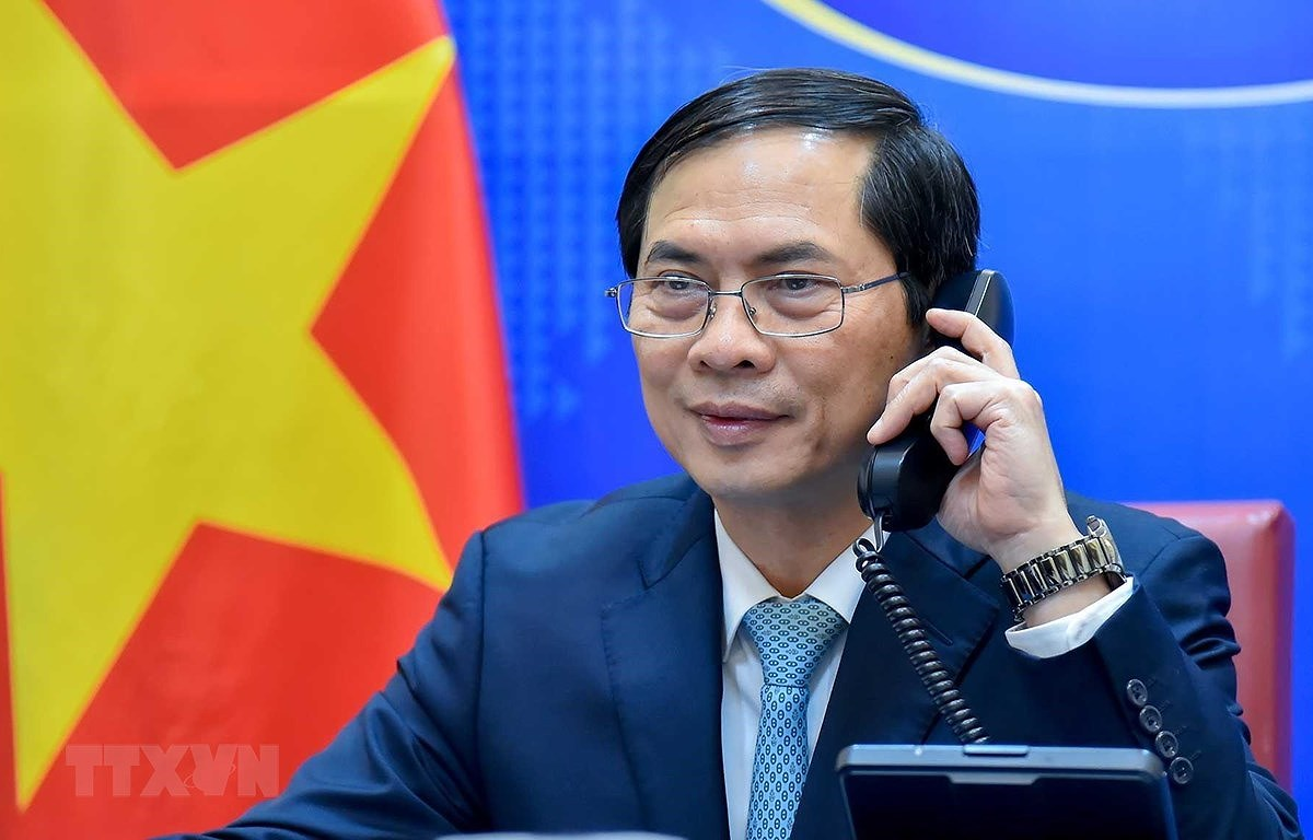 FMs of Vietnam, Morocco discuss bilateral cooperation hinh anh 1