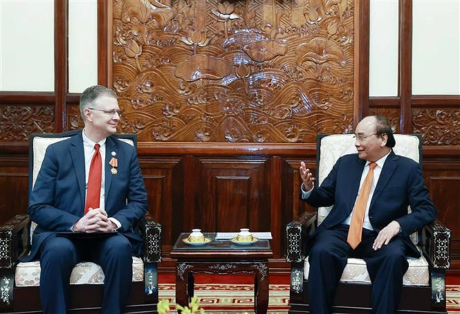 State President hosts outgoing US Ambassador hinh anh 1