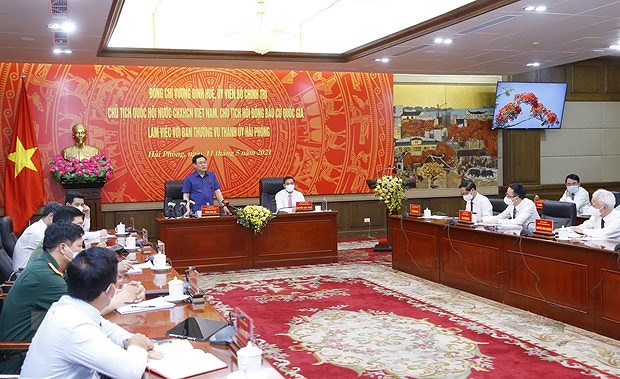 NA Chairman works with Party Committee's Standing Board of Hai Phong city hinh anh 2