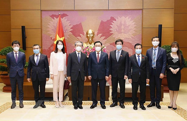 National Assembly Chairman welcomes Chinese Ambassador hinh anh 1