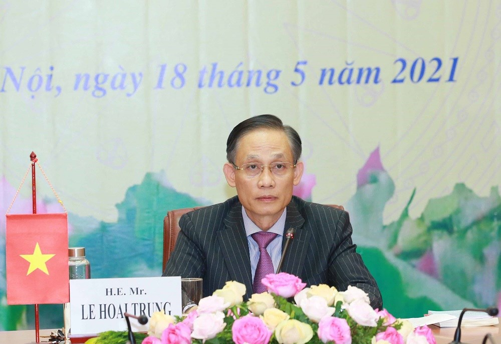 Vietnam informs Cambodian party on outcomes of 13th National Party Congress hinh anh 1