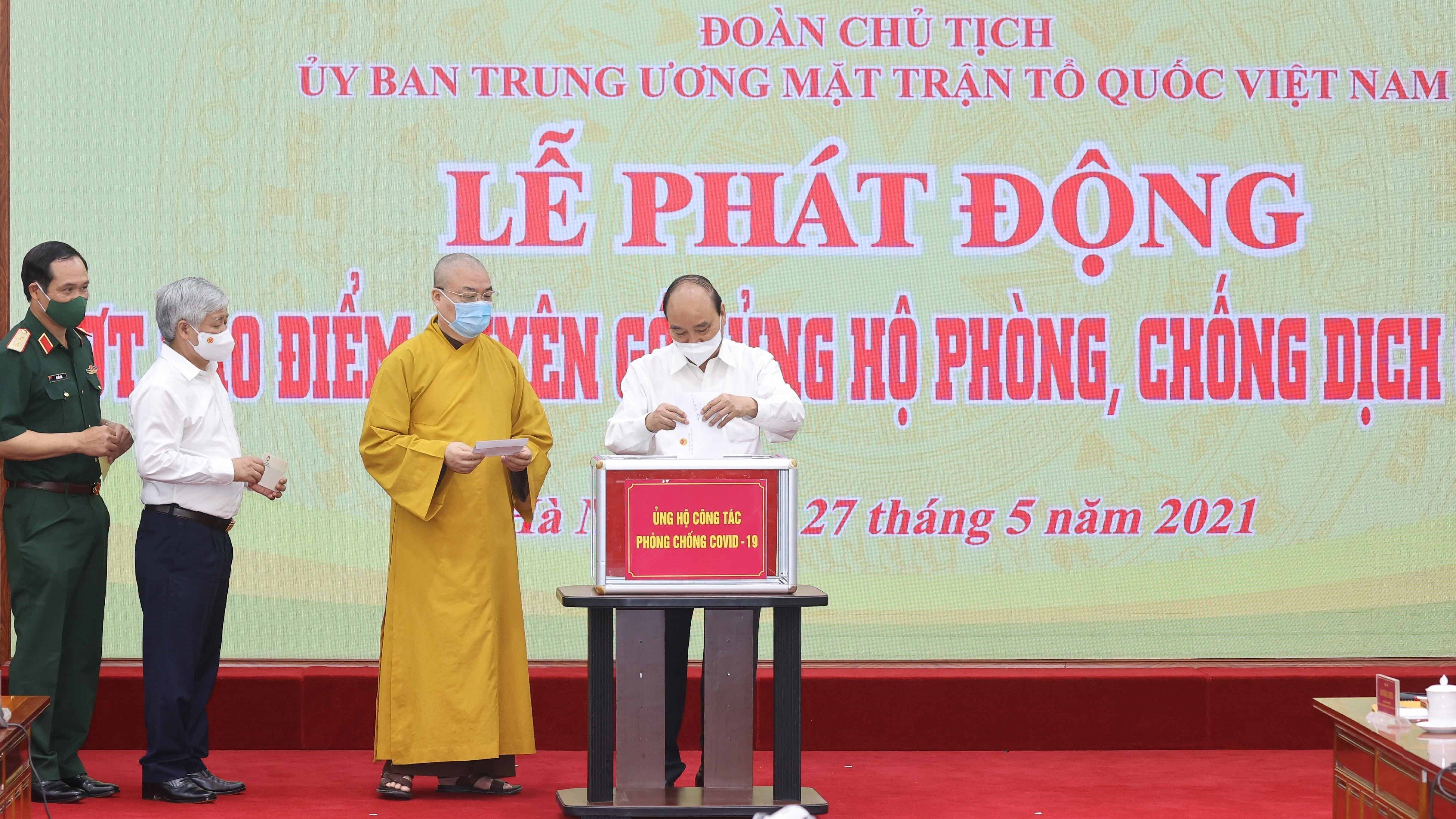 State President appeals for joint efforts in COVID-19 combat hinh anh 1