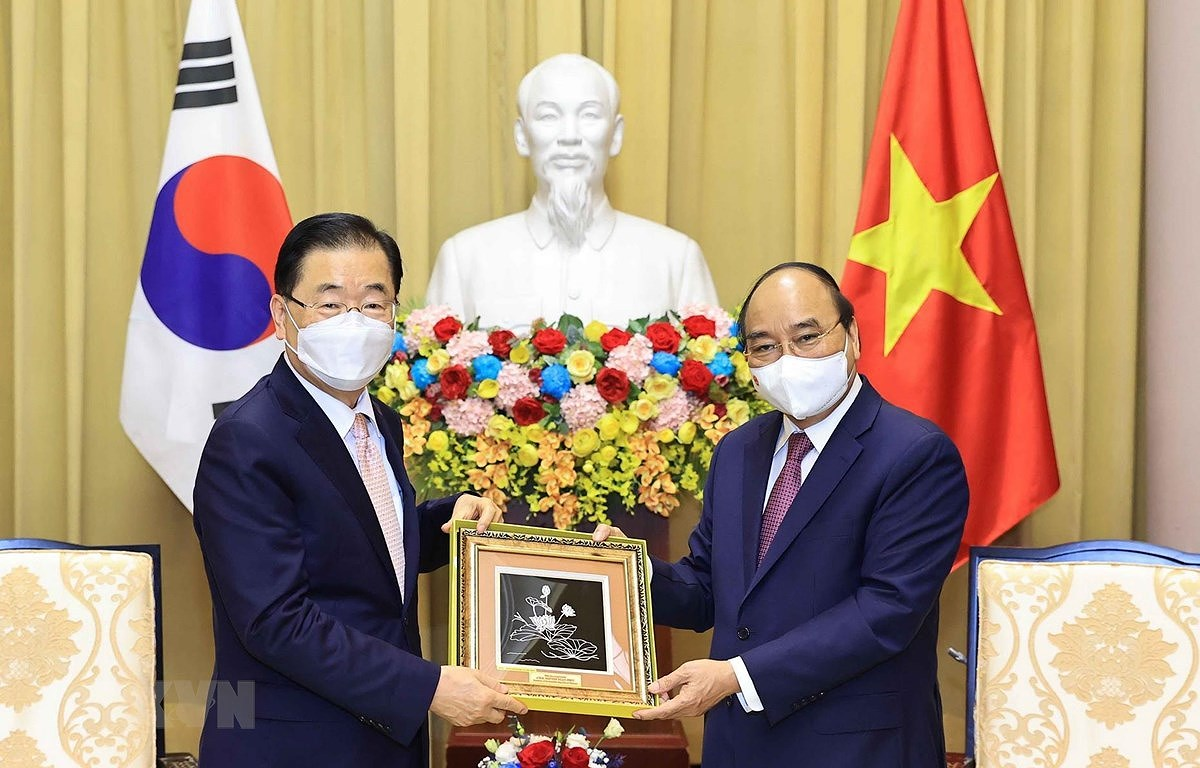 State President receives RoK Foreign Minister hinh anh 1