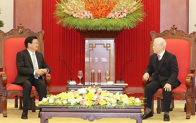 Top Lao leader's Vietnam visit to deepen bilateral relations hinh anh 1