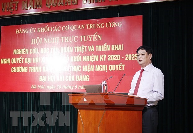 Party Resolution introduced to Central Agencies' Bloc Party members hinh anh 1
