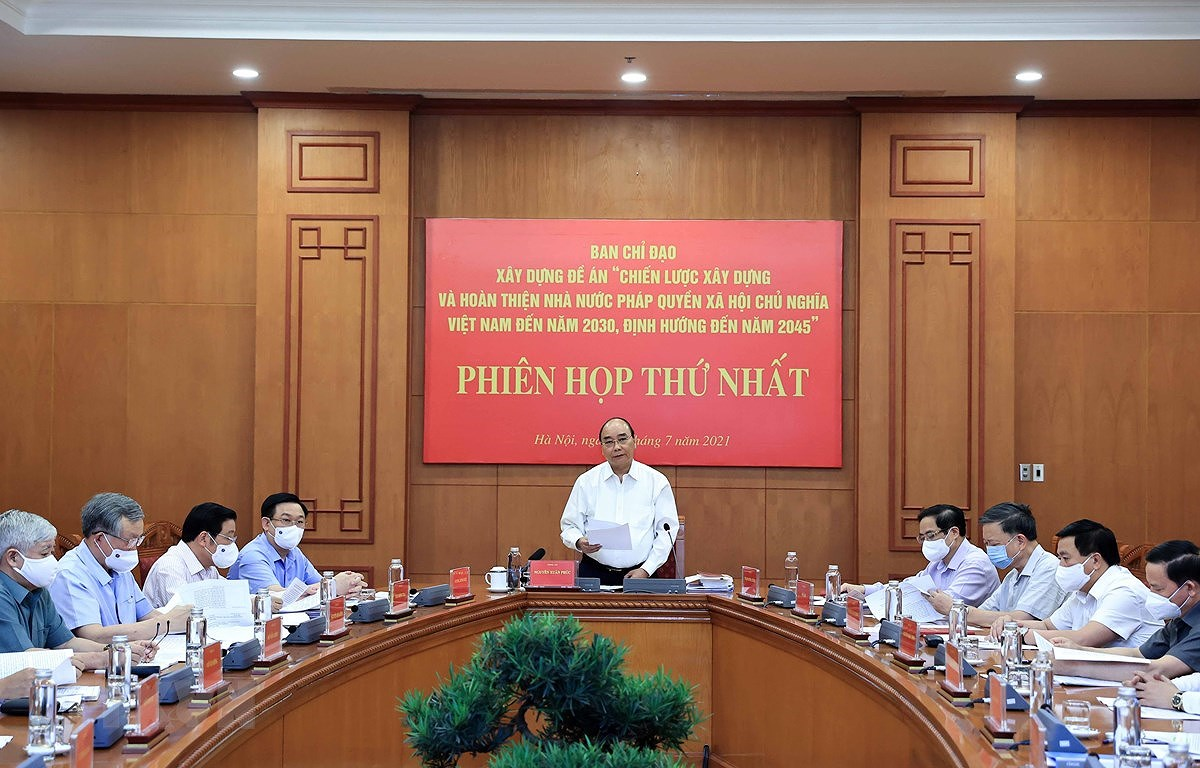 Building rule-of-law State to better serve people: President hinh anh 1