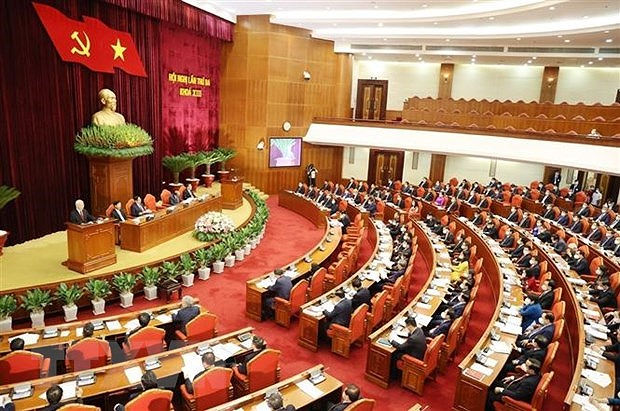Second working day of 13th Party Central Committee's third plenum hinh anh 1