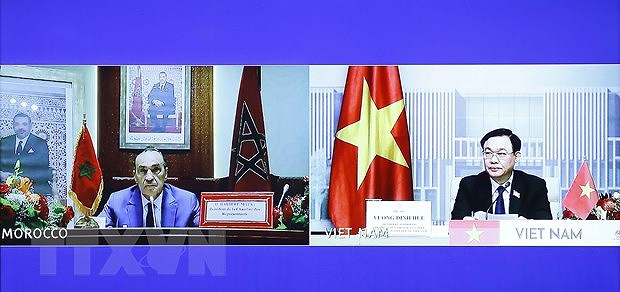 NA Chairman holds talks with Speaker of Moroccan lower house hinh anh 2