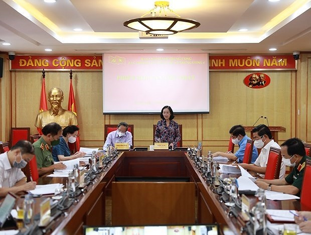 Steering Committee for making Party building project opens 1st session hinh anh 1