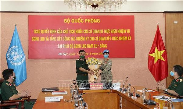 Another female officer assigned to UN peacekeeping mission hinh anh 1