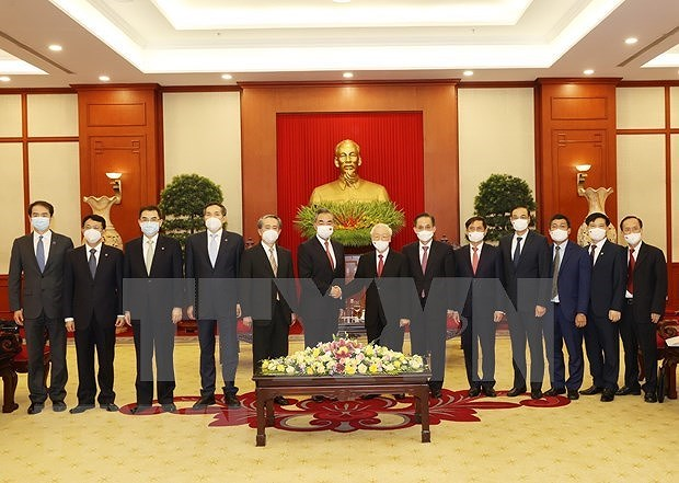 Party chief hosts reception for Chinese Foreign Minister hinh anh 2