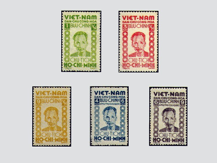 Collection de timbres sur le President Ho Chi Minh hinh anh 1