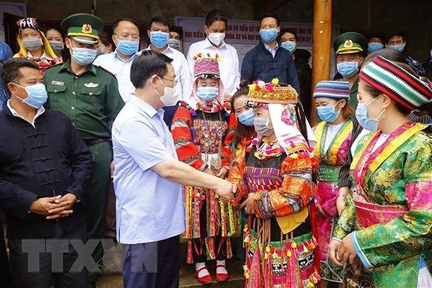 Elections legislatives : le president de l'Assemblee nationale examine les preparatifs a Ha Giang hinh anh 1
