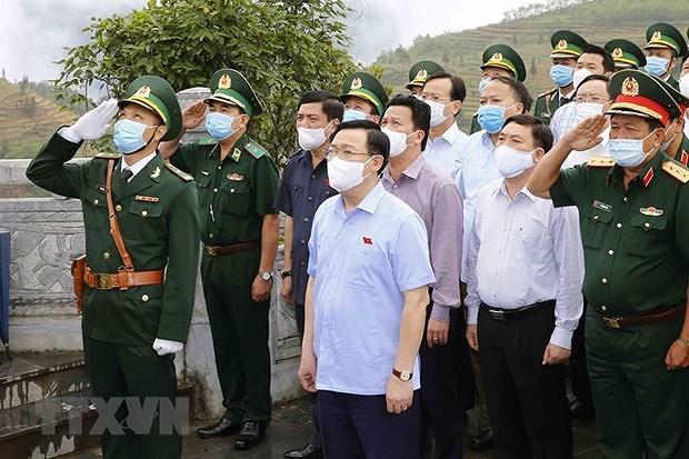 Elections legislatives : le president de l'Assemblee nationale examine les preparatifs a Ha Giang hinh anh 3