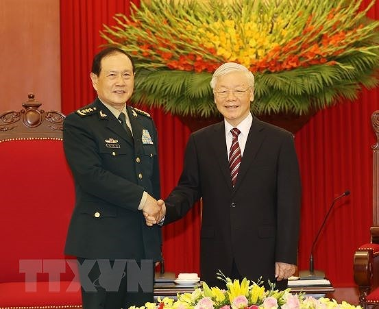 Le secretaire general du Parti Nguyen Phu Trong recoit le ministre chinois de la Defense hinh anh 1
