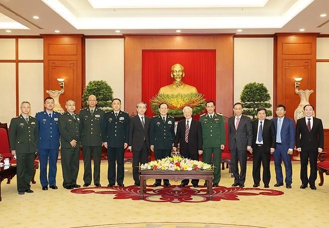 Le secretaire general du Parti Nguyen Phu Trong recoit le ministre chinois de la Defense hinh anh 2