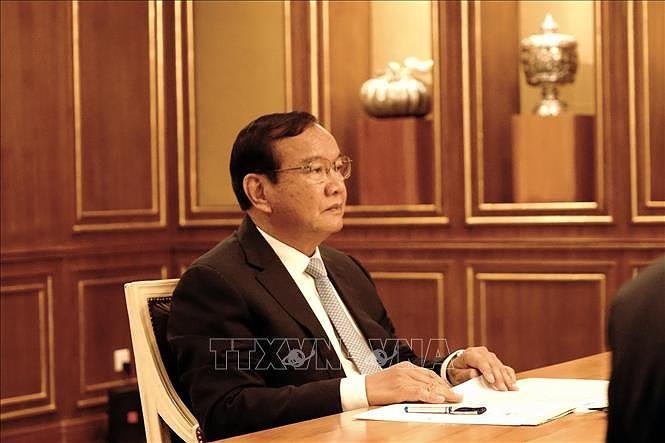 Informer le Parti du peuple cambodgien des resultats du 13e Congres du Parti communiste du Vietnam hinh anh 2