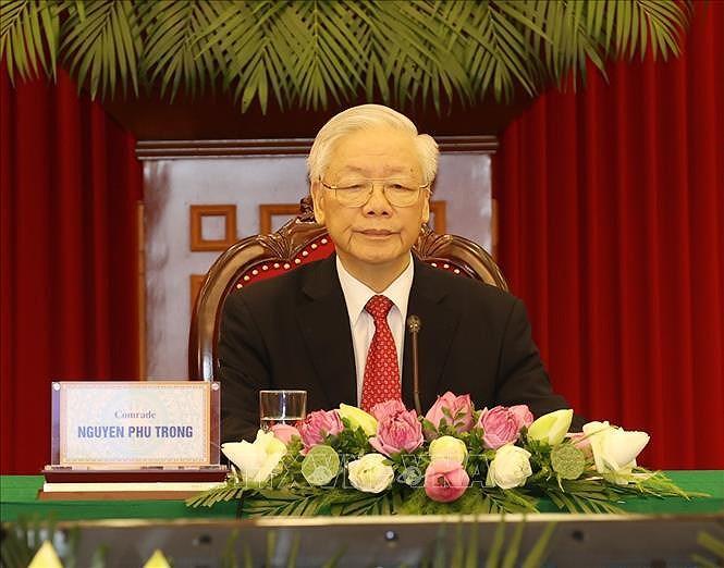 Le leader du Parti au Sommet entre le PCC et les Partis politiques du monde hinh anh 1