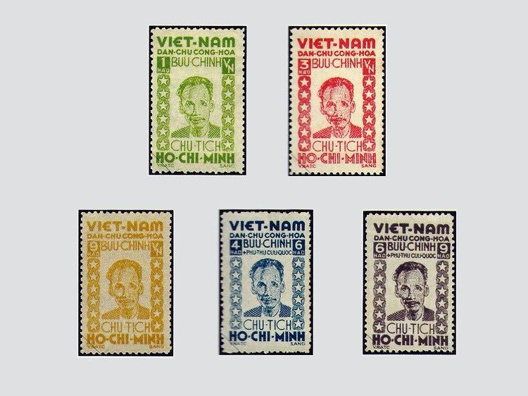 Коллекция марок о президенте Хо Ши Мине hinh anh 1