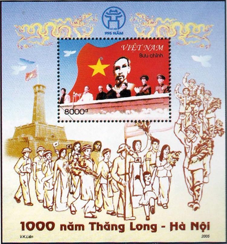Коллекция марок о президенте Хо Ши Мине hinh anh 10