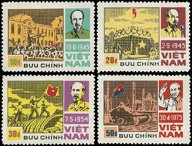 Коллекция марок о президенте Хо Ши Мине hinh anh 12