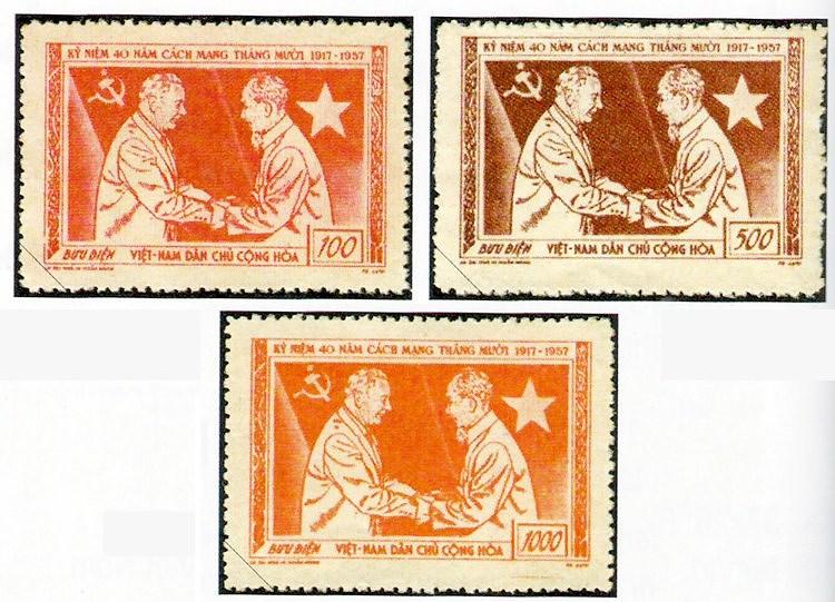 Коллекция марок о президенте Хо Ши Мине hinh anh 3