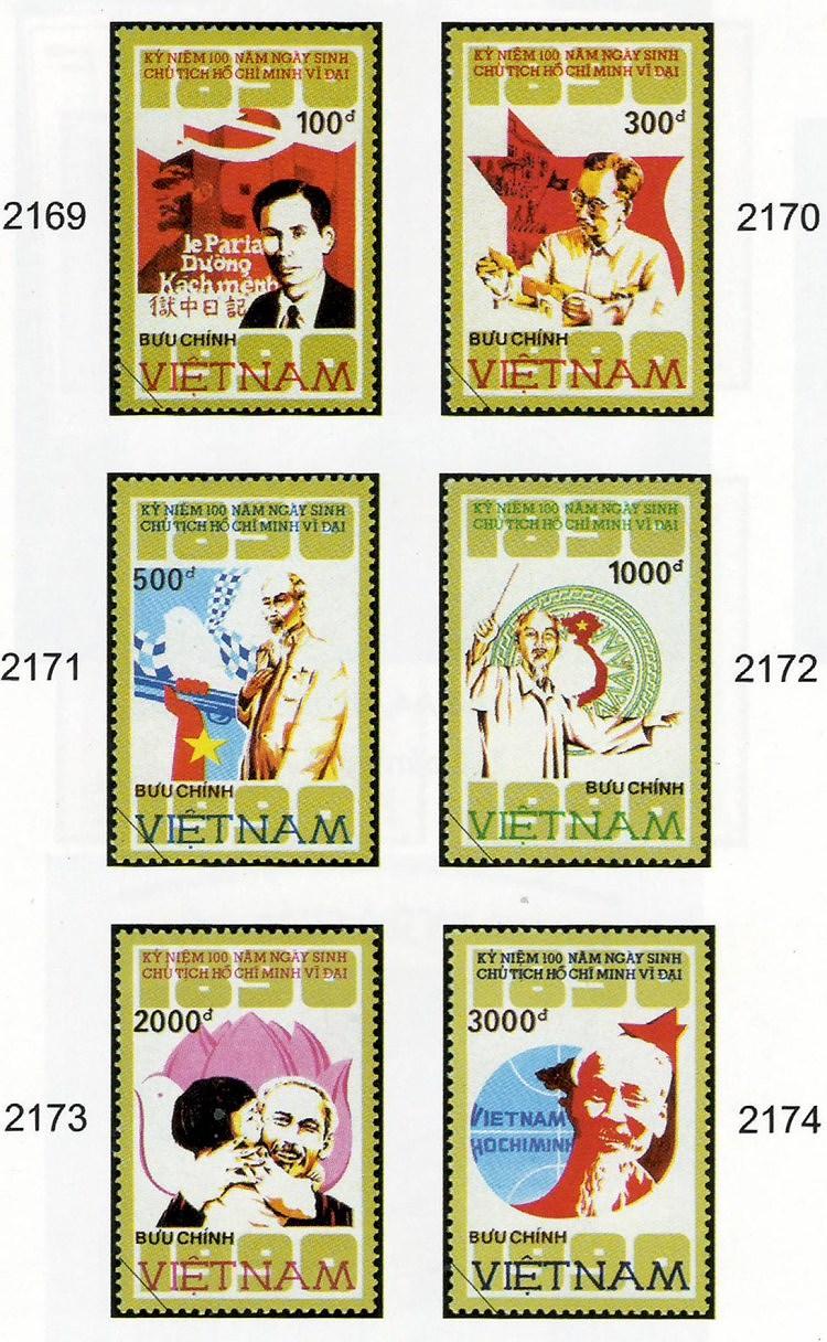 Коллекция марок о президенте Хо Ши Мине hinh anh 7