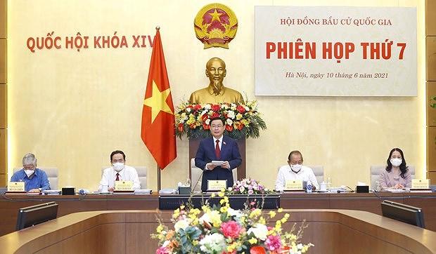 Председатель НC Выонг Динь Хюэ председательствовал на 7-м заседании Национального избирательного совета hinh anh 1