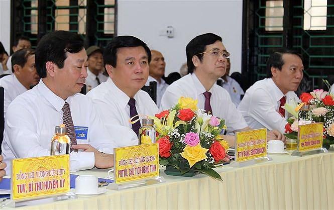 Phu Tho: Doan Ban Bi thu TW Dang du Dai hoi dang bo xa Van Xuan hinh anh 1