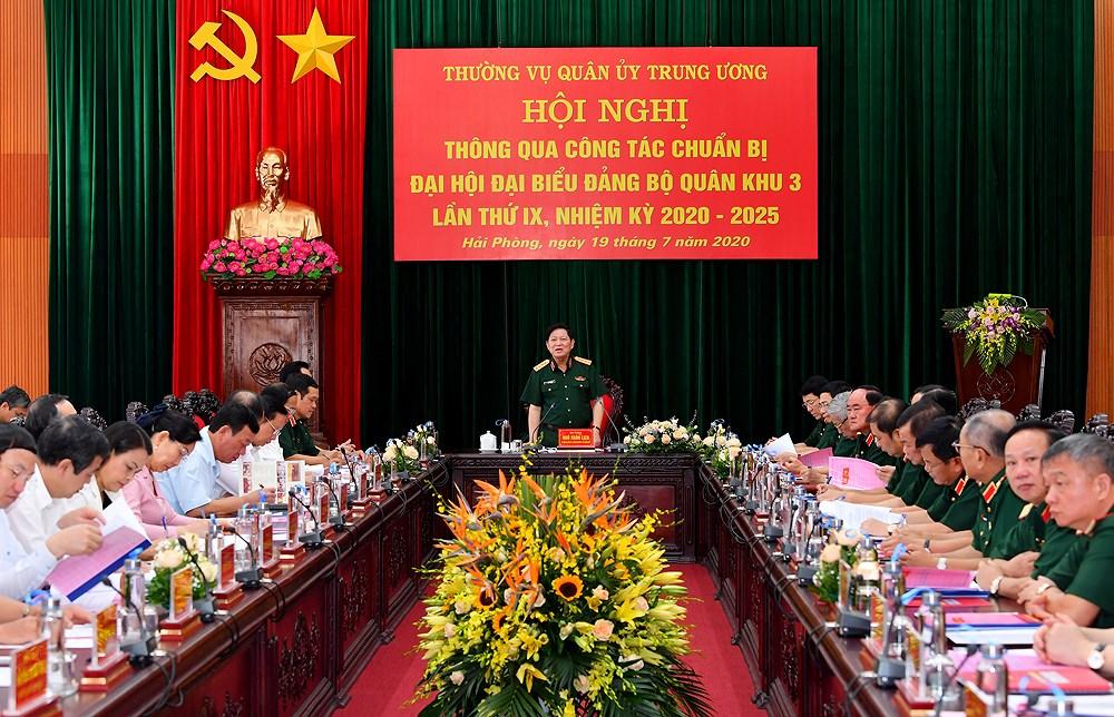 Lam tot cong tac chuan bi cho Dai hoi dai bieu Dang bo Quan khu 3 hinh anh 1